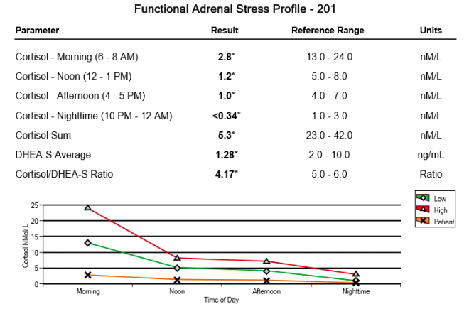 Adrenal Fatigue results
