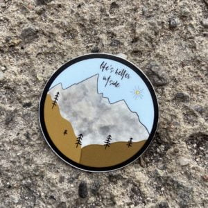 Life's Better Outside (2″ Round Sticker)