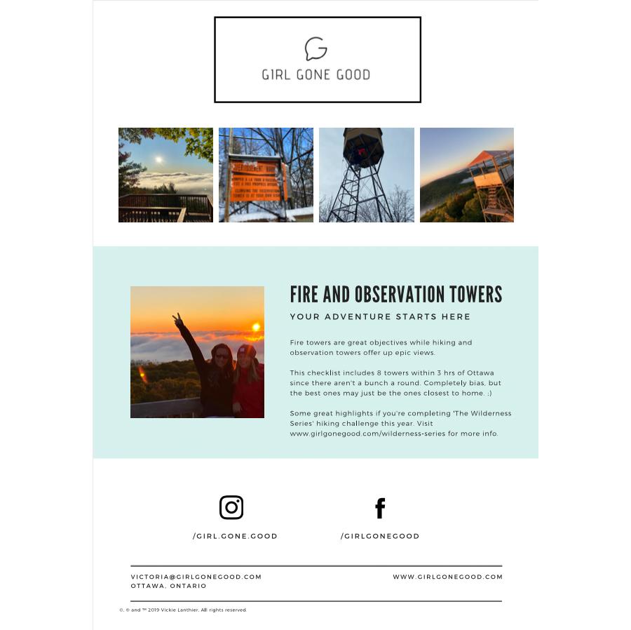 Tower Hikes Free Printable